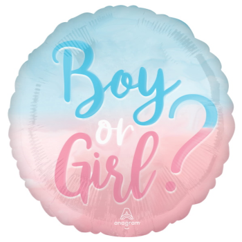"""Picture of 18"""" FOIL - GIRL OR BOY"""