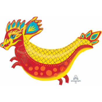 """Picture of 38"""" FIERY DRAGON SUPERSHAPE"""