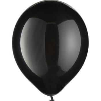"Image de 12"" BLACK LATEX BALLOONS 72/PKG"