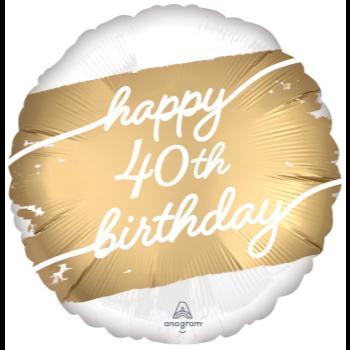 "Image de 18"" FOIL - GOLDEN AGE 40TH BIRTHDAY"