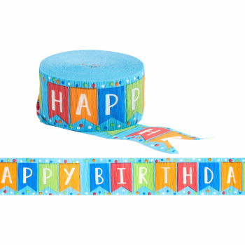 Image de HAPPY BIRTHDAY BLUE STREAMERS 81'