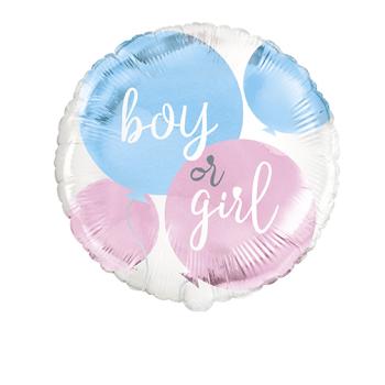 "Picture of 18"" FOIL - GENDER REVEAL - BOY OR GIRL"