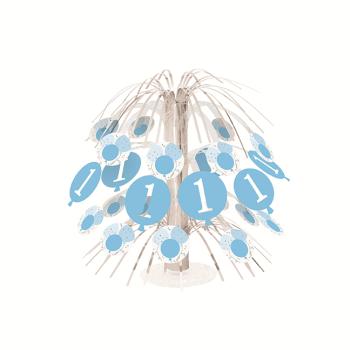 Image de DECOR - 1st BIRTHDAY BLUE GINGHAM - CASCADE CENTER PIECE