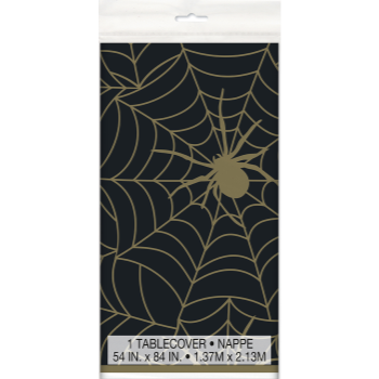Image de TABLEWARE - SPIDER WEB BLACK AND GOLD TABLE COVER