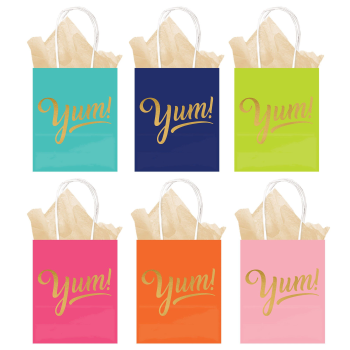 Image de DECOR - SWEETS AND TREATS KRAFT BAGS YUM - HOT STAMPED