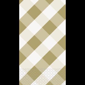 Image de GOLD GINGHAM GUEST TOWELS