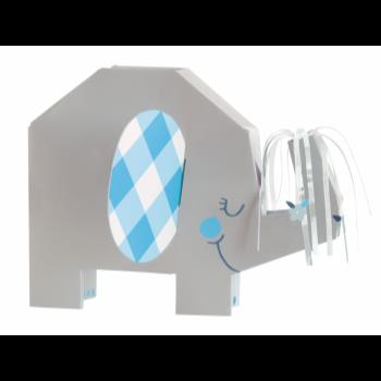 Image de BLUE FLORAL ELEPHANT CENTERPIECE