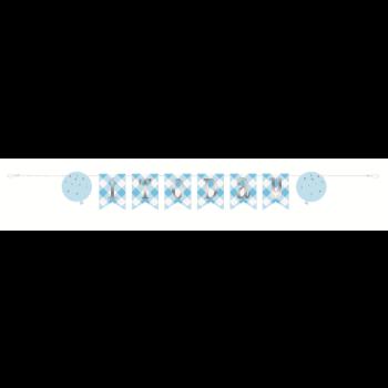 Image de DECOR - 1st BIRTHDAY BLUE GINGHAM - PENNANT BANNER 6'