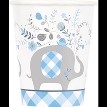 Image de BLUE FLORAL ELEPHANT 9oz CUPS