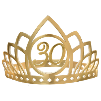 Picture of 30th GOLDEN AGE BIRTHDAY CROWN