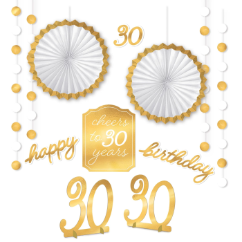 Picture of 30th GOLDEN AGE BIRTHDAY ROOM DECORATING KIT
