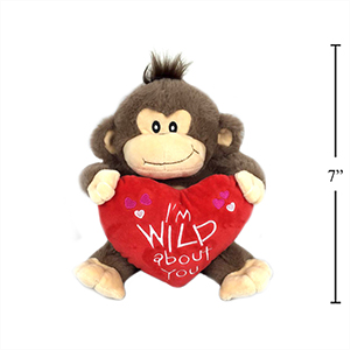 """Picture of DECOR - SITTING ORANGUTAN WITH HEART - 9"""""""