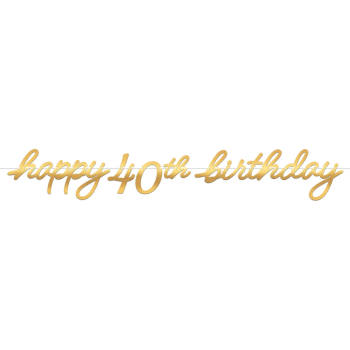 Picture of 40th LETTER BANNER - GOLDEN AGE BIRTHDAY