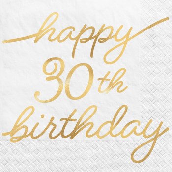 Picture of 30th GOLDEN AGE BIRTHDAY - BEVERAGE NAPKINS