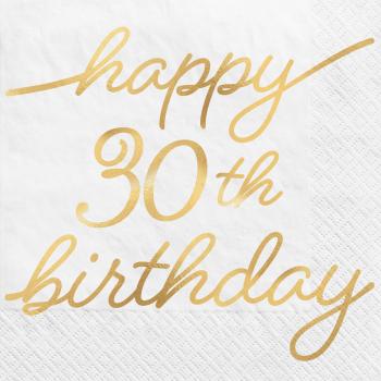 Image de 30th GOLDEN AGE BIRTHDAY - BEVERAGE NAPKINS