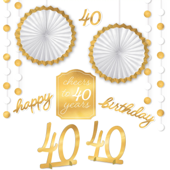 Picture of 40th GOLDEN AGE BIRTHDAY ROOM DECORATING KIT