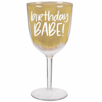 Image de TABLEWARE - BIRTHDAY BABE WINE GOBLET