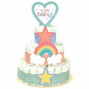 Image de DECOR - BABY SHOWER NEUTRAL DIAPER CAKE KIT