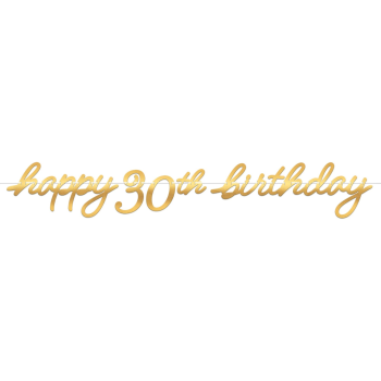 Picture of 30th LETTER BANNER - GOLDEN AGE BIRTHDAY