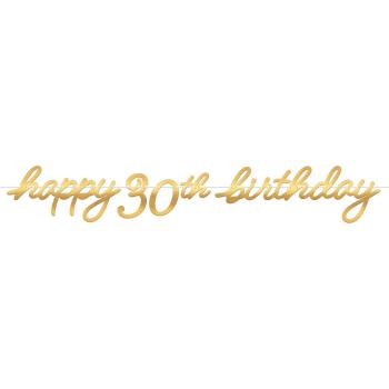 Image de 30th LETTER BANNER - GOLDEN AGE BIRTHDAY