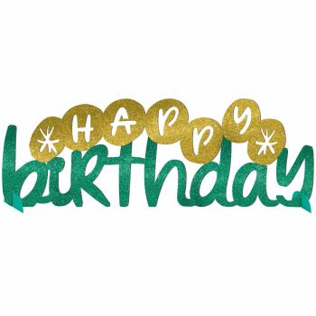 Image de DECOR - HAPPY CAKE DAY GLITTER TABLE CENTER PIECE