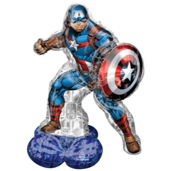 Picture of AIRLOONZ - CAPTAIN AMERICA - AIR FILLED