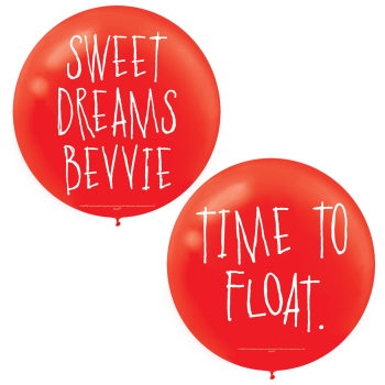 Image de IT PENNYWISE GIANT RED LATEX BALLOONS