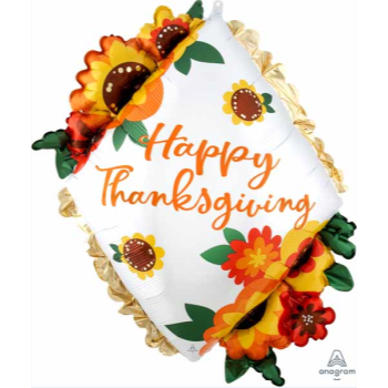 """Picture of 27"""" HAPPY THANKSGIVING SUPERSHAPE"""