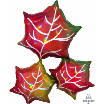 """Picture of 30"""" FALL LEAVES SUPERSHAPE"""