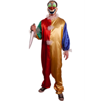 Picture of YOUNG MICHAEL CLOWN COSTUME WITH MASK - ADULT