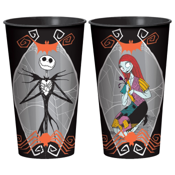 Image de NIGHTMARE BEFORE CHRISTMAS JACK AND SALLY 32oz PLASTIC CUPS