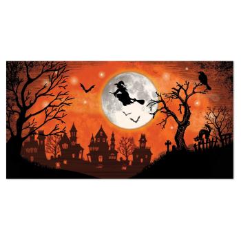 Image de HALLOWEEN BLACK AND ORANGE SCENE SETTER ADD ON - WITCH