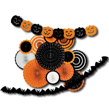 Image de HALLOWEEN  ORANGE AND BLACK DECORATING KIT