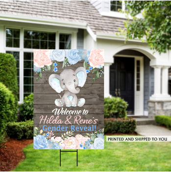Picture of LAWN YARD SIGN - BABY GENDER REVEAL - PERSONALIZED