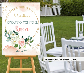Picture of LAWN YARD SIGN - BABY SHOWER - PERSONALIZED