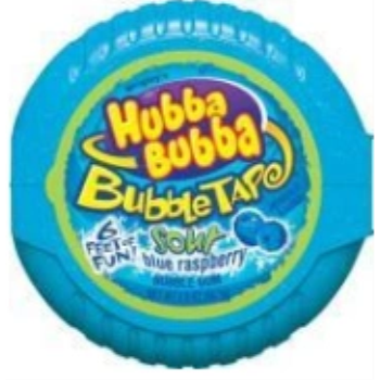 Picture of 1 PACK BUBBLE TAPE - SOUR RASPBERRY