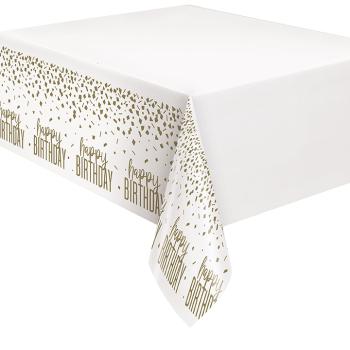 Image de TABLEWARE - CONFETTI GOLD BIRTHDAY  PLASTIC TABLE COVER