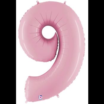 Image de 40'' NUMBER 9 SUPERSHAPE - PASTEL PINK