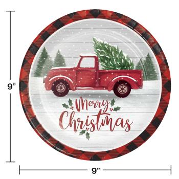 "Image de TABLEWARE - FARMHOUSE CHRISTMAS 9"" PLATES"
