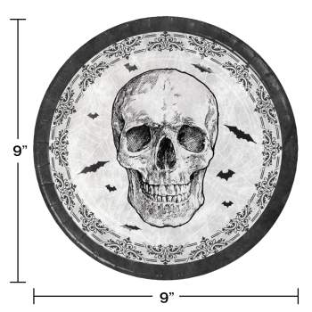 """Image de TABLEWARE - SPIDER AND SKULL 9"""" PLATES"""