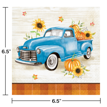 Picture of TABLEWARE - HARVEST TRUCK LUNCHEON NAPKINS