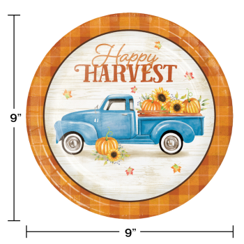 """Picture of TABLEWARE - HARVEST TRUCK 9"""" PLATES"""