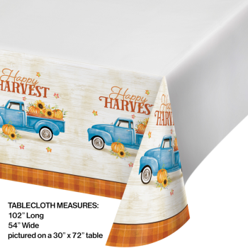 Picture of TABLEWARE - HARVEST TRUCK TABLE COVER