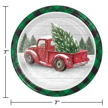 "Image de TABLEWARE - FARMHOUSE CHRISTMAS 7"" PLATES"