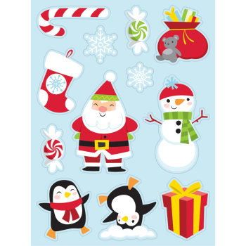 Image de TABLEWARE - CHRISTMAS CHARACTERS STICKERS