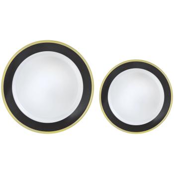 Image de BLACK BORDER MULTI PACK PREMIUM PLASTIC PLATES
