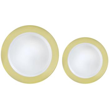Image de GOLD BORDER MULTI PACK PREMIUM PLASTIC PLATES