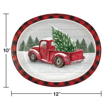 Image de TABLEWARE - FARMHOUSE CHRISTMAS OVAL PLATES