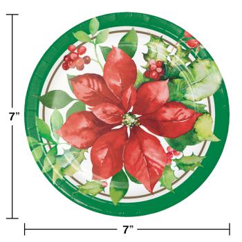 "Image de TABLEWARE - PERFECT POINSETTIA 7"" PLATES"