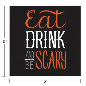 Image de TABLEWARE - EAT DRINK BE SCARY BEVERAGE NAPKINS